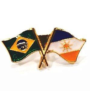 Pim Bótom Broche Bandeira Estado De Tocantins Folheado A Ouro