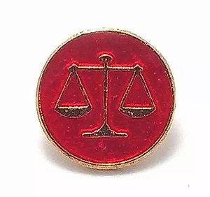 Pim Bótom Broche Folheado A Ouro Direito Balança Justiça Advogados