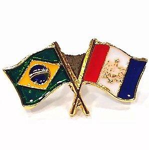 Pim Bótom Broche Bandeira Estado De Alagoas Folheado A Ouro