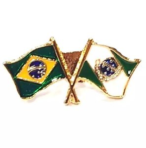 Pim Bótom Broche Bandeira Estado Do Paraná Folheado A Ouro