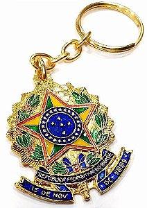 Chaveiro Brasão Da República Brasil Metal Ótima Qualidade
