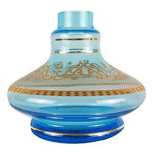 Vaso Pequeno Md Hookah Little Curve - Azul 33F