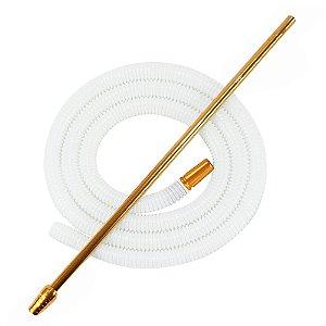 Piteira De Alumínio Anubis Slim Dourado C/ Refil Lavável Branco