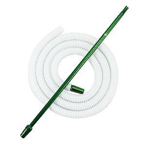 Piteira De Alumínio Anubis Slim Verde C/ Refil Lavável Branco