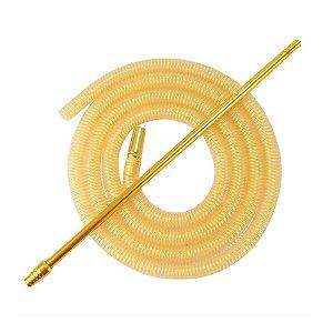Piteira De Alumínio Anubis Slim Dourado C/ Refil Lavável Dourado