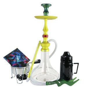 Narguile Magic Mezzo Kit Completo - Verde Vaso Liso