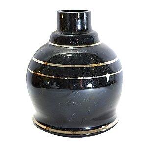 VASO PEQUENO SHISHA GLASS MINI JUMBO PRETO/ PRATA