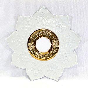 PRATO NARGUILE URSO HOOKAH PARDO - Branco/ Dourado