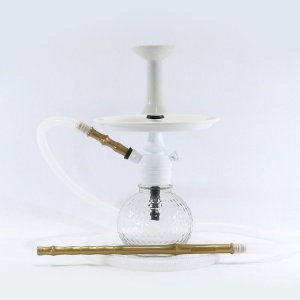 Narguile Mini Monster Completo- Black Hookah - Branco