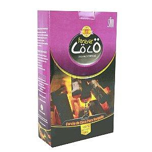 Carvão de Coco para Narguile Slim 1kg Forever Coco