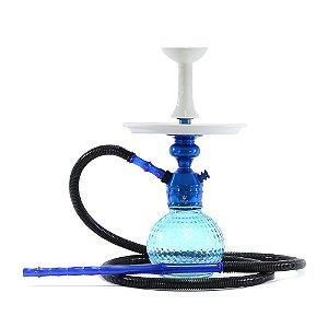 Narguile Triton Zip Completo Barato - Azul / Branco