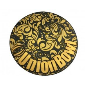 Tapete Union Bowl  Preto com Dourado- Base protetora