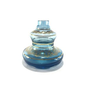 VASO NARGUILE PEQUENO SHISHA GLASS MINI STYLE AZUL CLARO