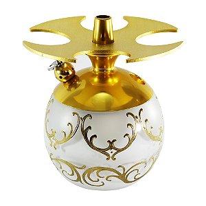 Narguile LittleSorr Egermann - Dourado Vaso Branco