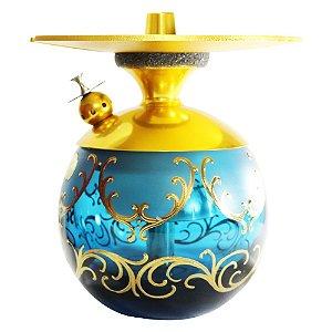 Narguile LittleSorr Egermann - Dourado Vaso Azul
