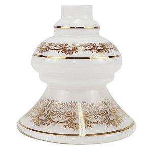 Vaso Base Shisha Glass Dubai - Branco
