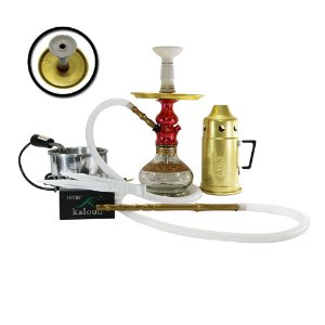 NARGUILE COMPLETO LORD AMAZON HOOKAH - Vermelho
