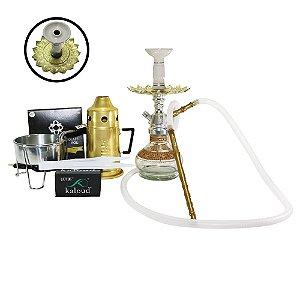 Narguile Anubis Hookah Kit completo-  Prata com Dourado