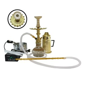Narguile Completo Empire Hookah King Kit- Dourado