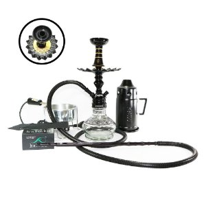Narguile Completo Empire Hookah King Kit- Preto