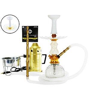 Narguile Kit Amazon Hookah Completo - Dourado/ Boticcino