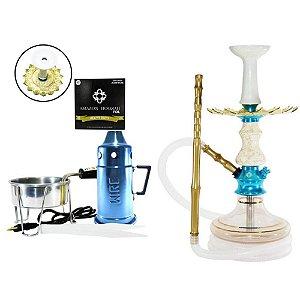 Narguile Amazon Prime Completo Vaso Aladin - Azul/ Boticcino