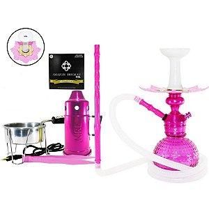 Narguile Kit Triton Zip Completo - Rosa / Rosa