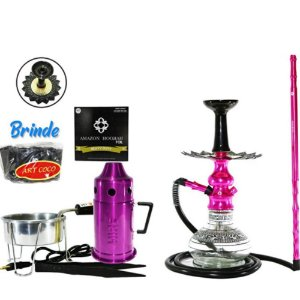 NARGUILE AMAZON HOOKAH LORD COMPLETO - Rosa