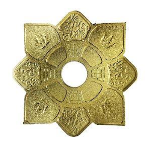 Prato Mini Imperial Hookah King - Dourado