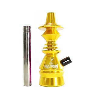 Stem Narguile Kairos Power - Dourado e Preto