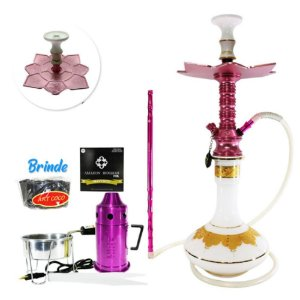 Narguile Zeus Smart Kit Completo - Rose