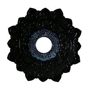 Prato Negro Grande Urso Hookah- Preto com Miolo Azul