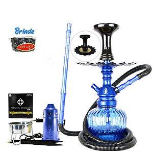 Kit Narguile Completo Anubis + Brinde - Azul
