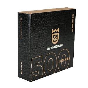 Papel Alumínio para Narguile Av Hookah 500 Folhas