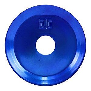Prato Médio Black Hookah Para Narguile - Azul