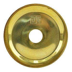 Prato Médio Black Hookah Para Narguile -  Dourado