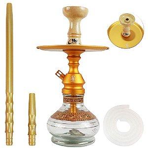Narguile Pequeno Completo Anubis Velvet - Dourado