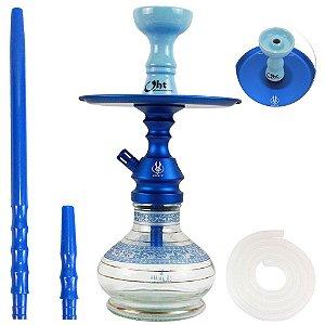Narguile Pequeno Completo Anubis Velvet - Azul