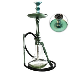 Narguile Sultan Miid Hookah Completo Rosh Seven - Midnight Green