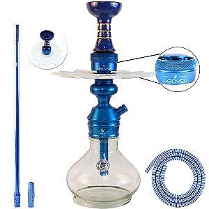 Narguile Triton Zip Completo Com Hoover - Azul com Branco