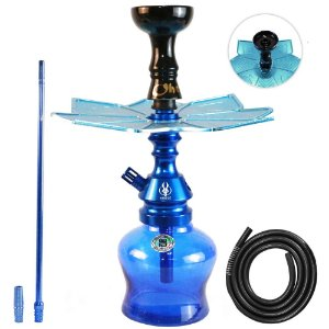 Narguile Anubis Hookah Completo Little Monster - Azul