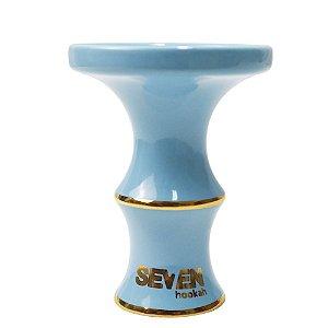 Rosh Queimador Seven Hookah Série Ouro- Azul Bebe