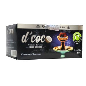 Carvão De Coco D'coco Hexagonal 250g