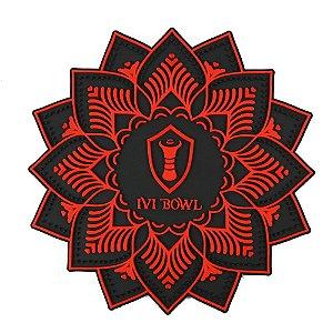 TAPETE BASE PROTETORA IVI BOWL - Vermelho com preto