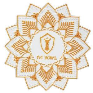 TAPETE BASE PROTETORA IVI BOWL - Branco com Dourado