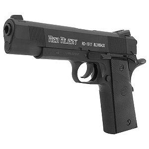 Pistola de pressão CO2 red alert RD-1911 com Blowback, slide em metal Gamo - 4,5mm