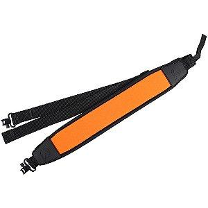 Bandoleira Neoprene com elo em aço giratório laranja - Gamo