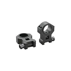 Suporte para trilho Picatinny em alumínio Tasco p/ lunetas de 1pol. ou 30 mm alto