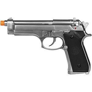 Pistola de airsoft a Gás GBB M92 Cromada - WE