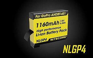 Bateria NL GOPRO 4 1160mah 3.8v 4.4wh - Nitecore